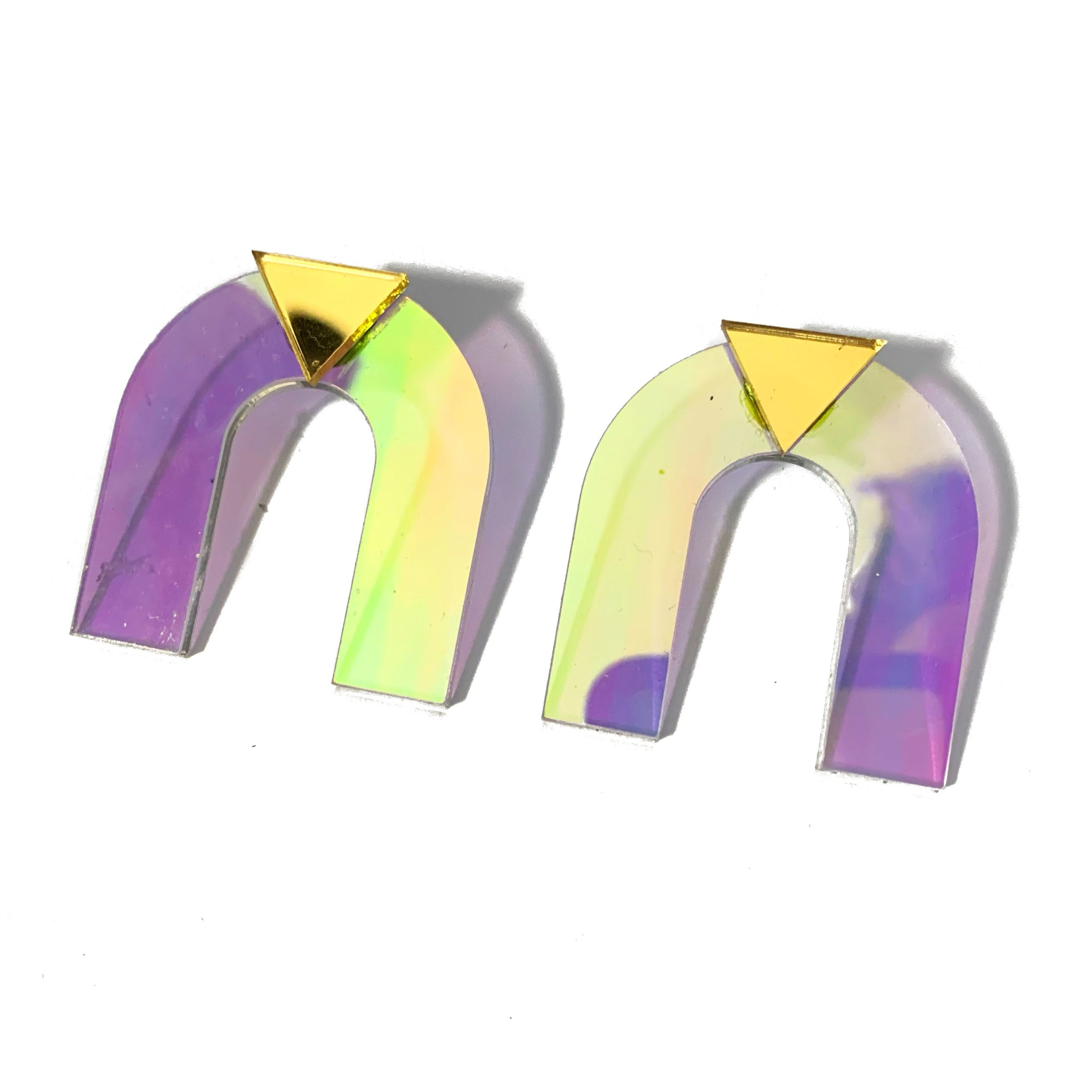 Arch Deco Earrings (Iridescent)