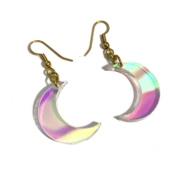 Light of the Moon Iridescent Drop Earrings (Small)
