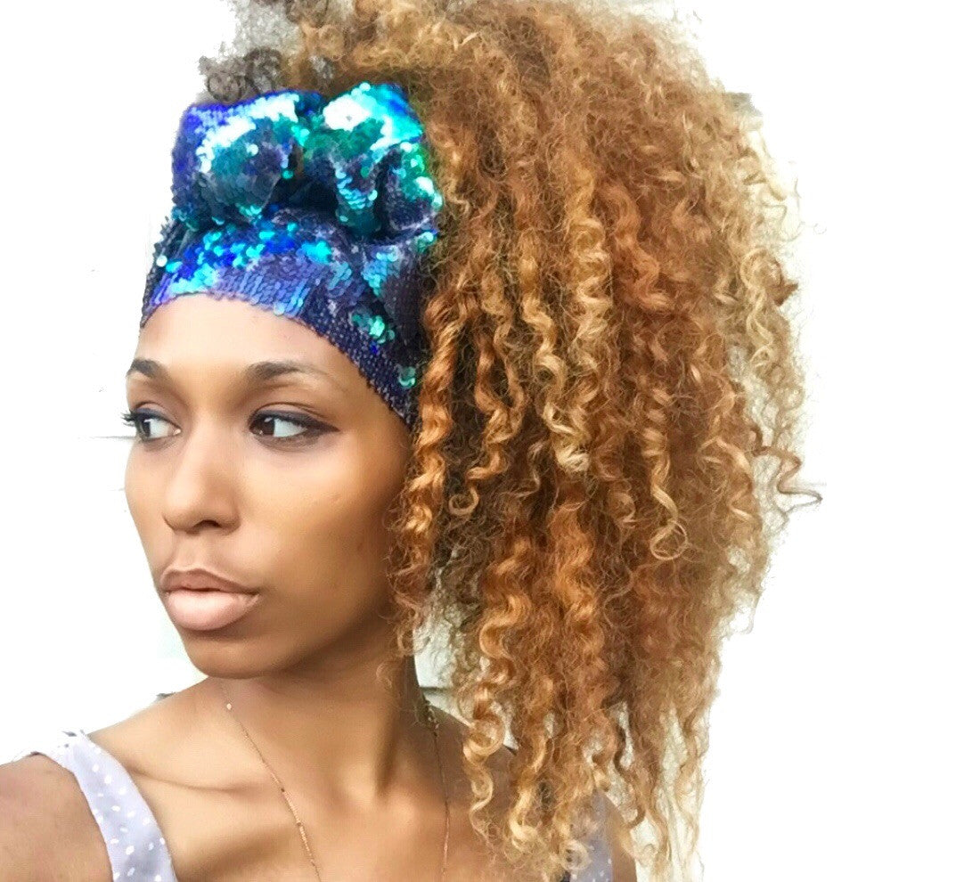 Reversible Sequin Mermaid Headwrap