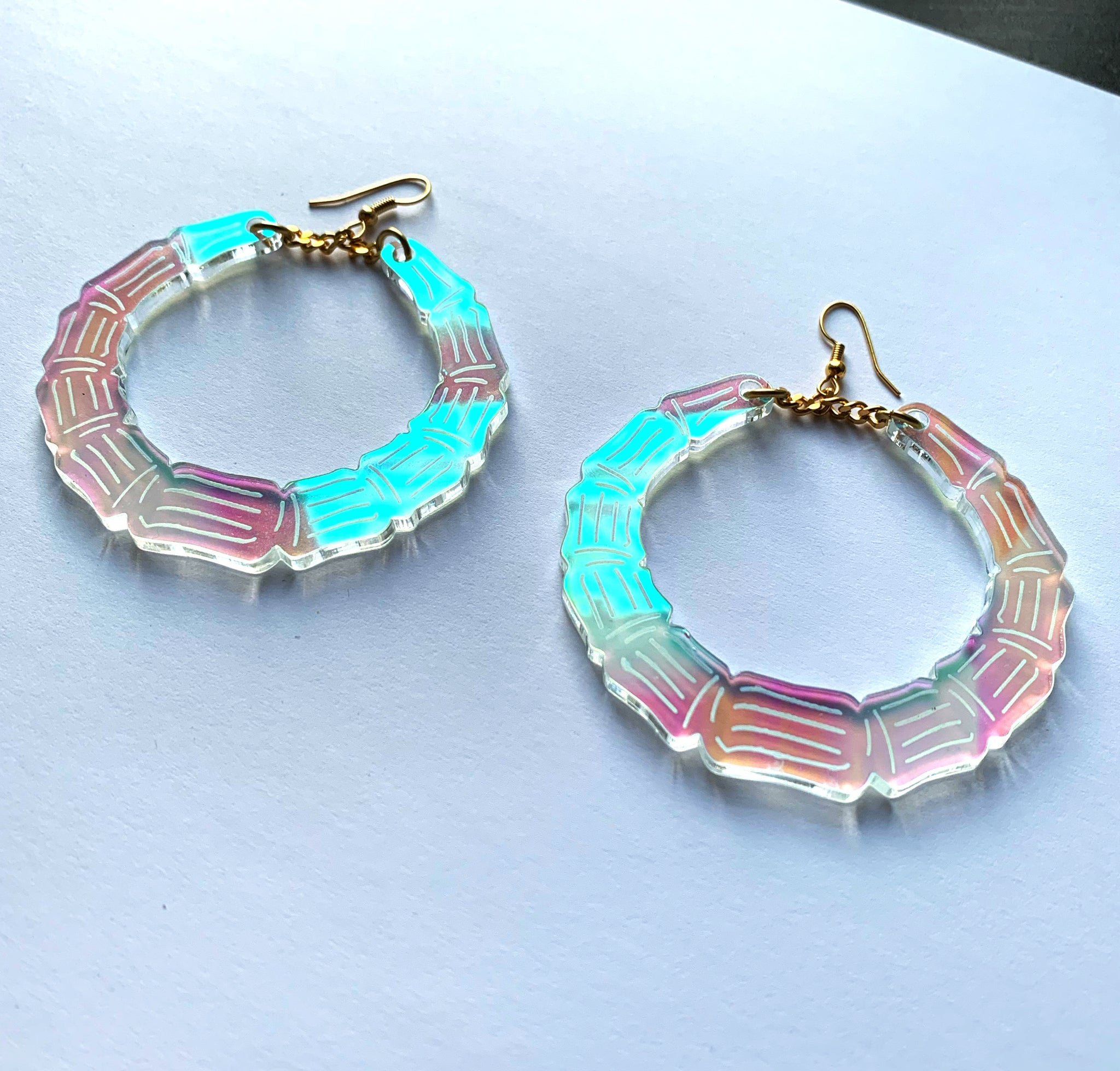 Bamboo Bangas Iridescent Acrylic Earrings