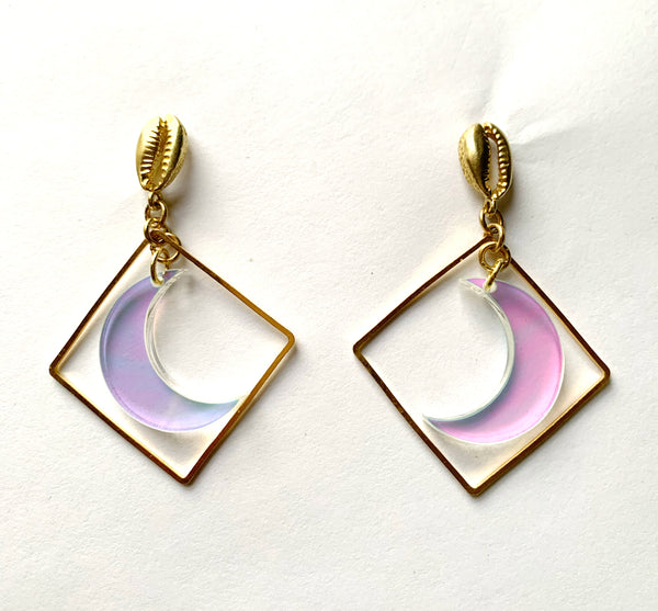 Moon Magic Earrings (Iridescent)