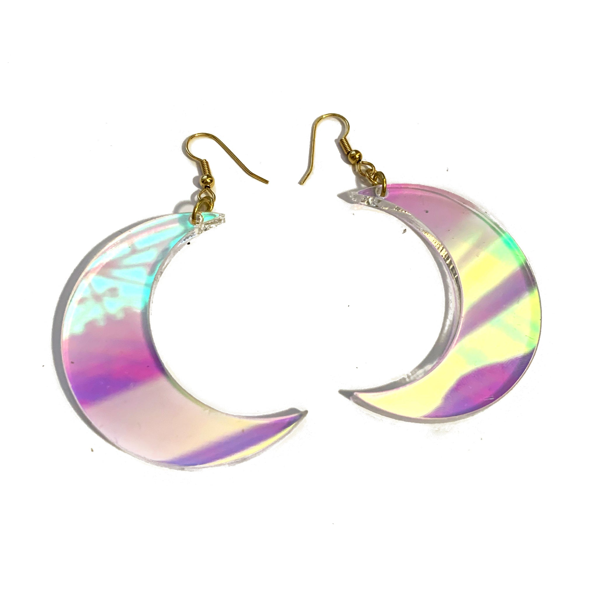Light of the Moon Iridescent Drop Earrings (Large)