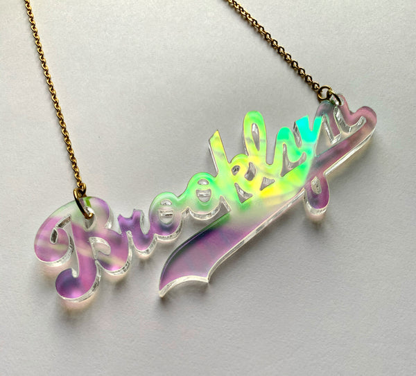 Where Brooklyn At Necklace (Iridescent)