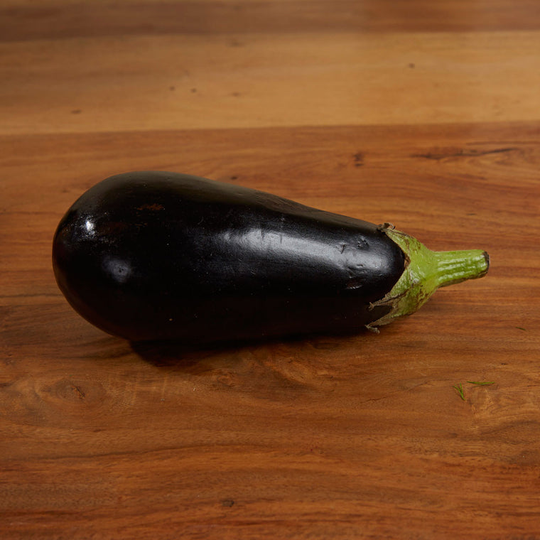 Local grown Lancashire Aubergine