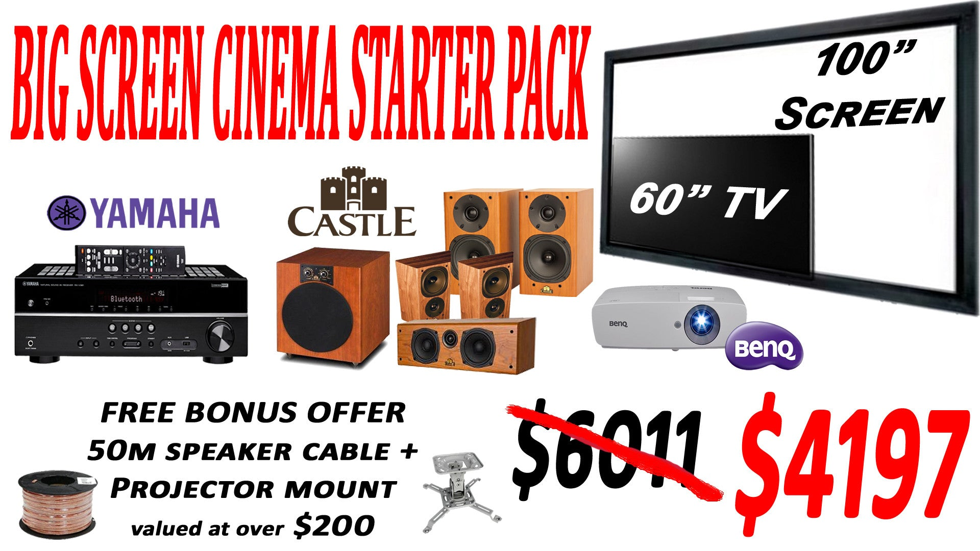 SAVI Systems Perth - BIG SCREEN CINEMA STARTER PACK
