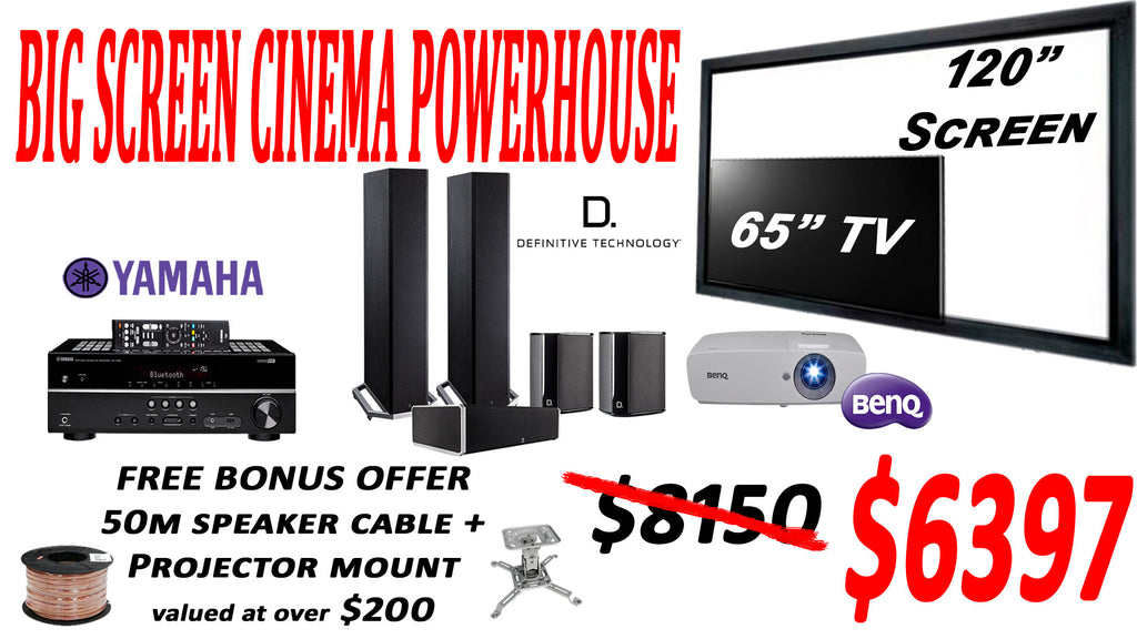 "SAVI Systems Perth - BIG SCREEN CINEMA POWERHOUSE 120"" Home Theatre Package"