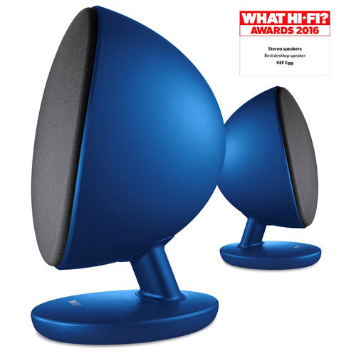 KEF Egg Active Wireless Hi-Fi Speakers (Blue) - SAVI Systems Perth