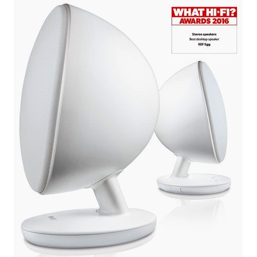 KEF Egg Active Wireless Hi-Fi Speakers (White) - SAVI Systems Perth