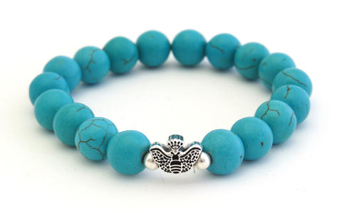 Turquoise Stone Sterling Silver Bracelet