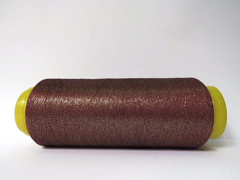 Cotton/lurex Twisted Yarn - Chestnut