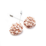 Silk Rose Lapel Pin in Blush (Small)