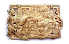 Baby Ducks Out of their Nest Wood Carving