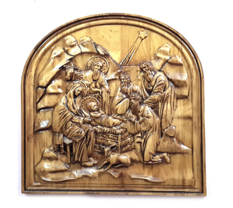 Christmas (Birth of Lord Jesus) Wood Carving