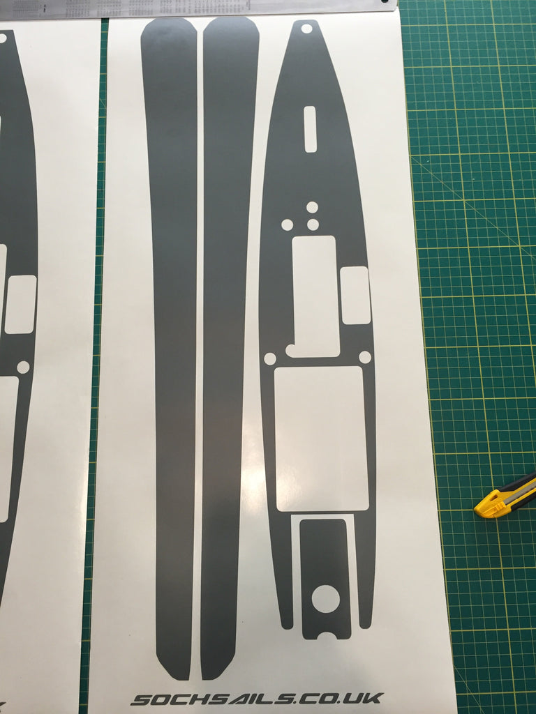 DF65 Hull & Deck Sticker Set Plain V1 - V5