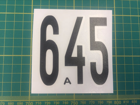 DF65 Sail Numbers