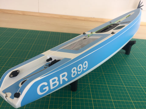 Version 6 DF65 Hull & Deck Sticker Set With Sail Number on Hull