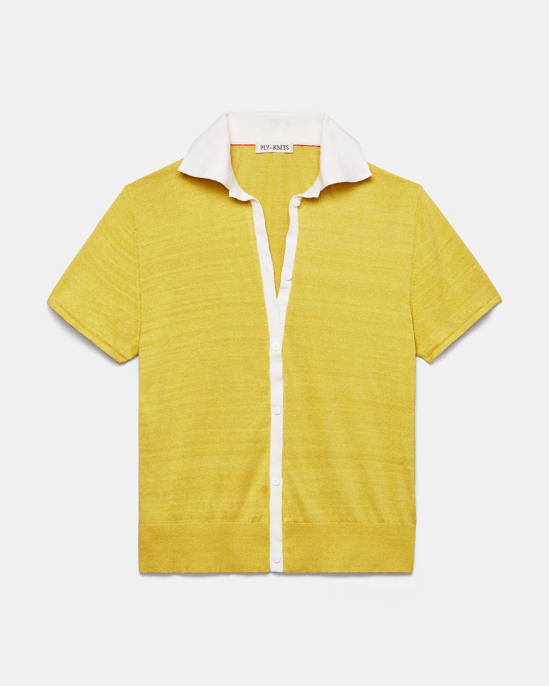 GALEN RIVIERA SHIRT IN HOT HONEY