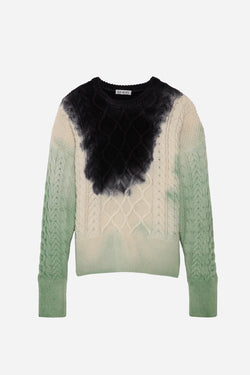 FRIDA PAINT SWEATER IN RORSCHACH-GREEN