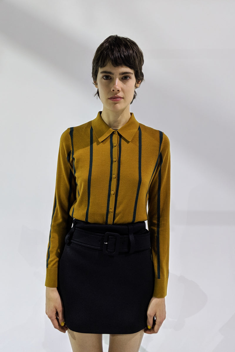 ELIOT SHIRT IN HOT HOT MUSTARD