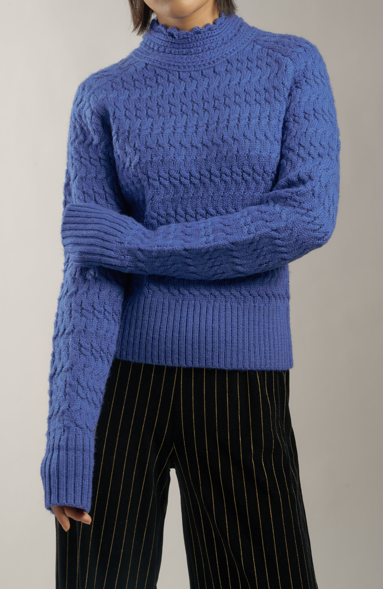 The 'Dyer' Rollneck in Cobalt Blue
