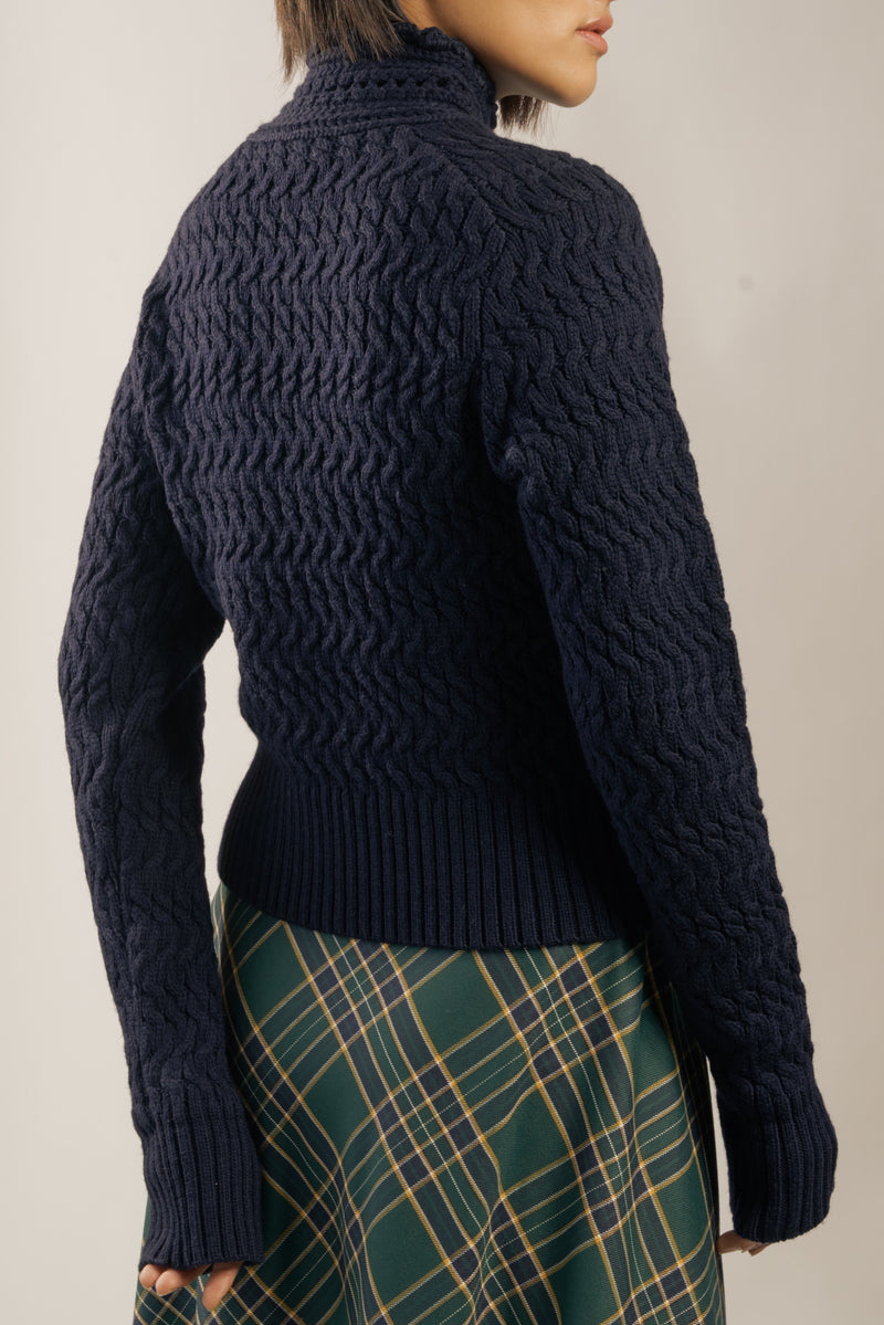 The 'Dyer' Rollneck in Navy Blue