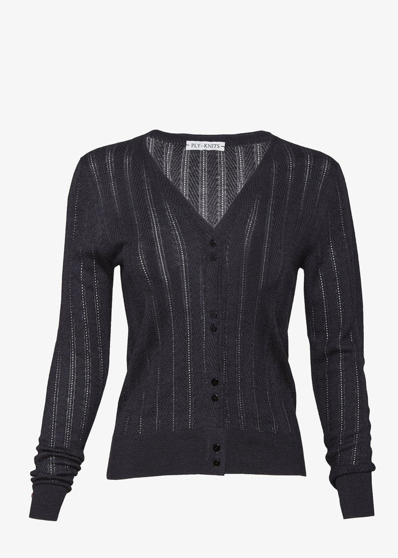Carver Cardigan in Charcoal