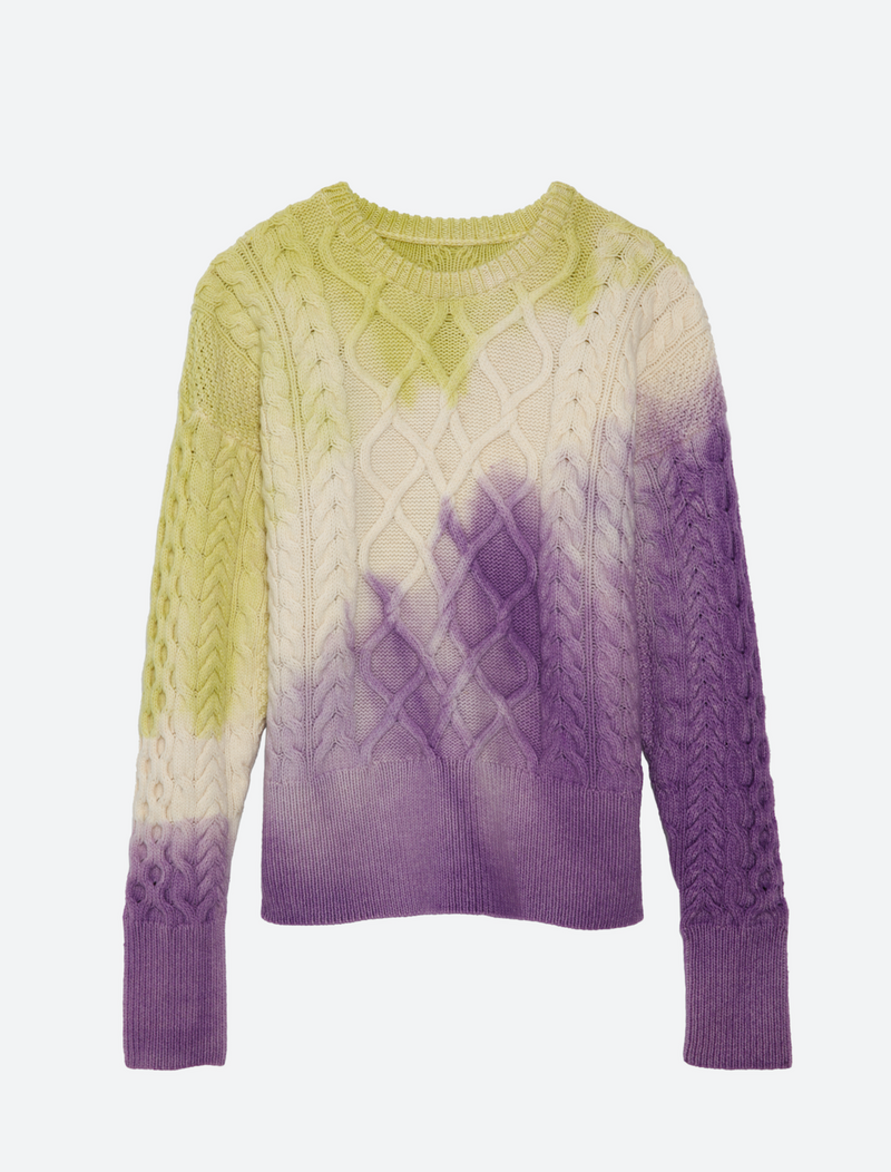 FAULKNER PAINT SWEATER IN RORSCHACH-PURPLE