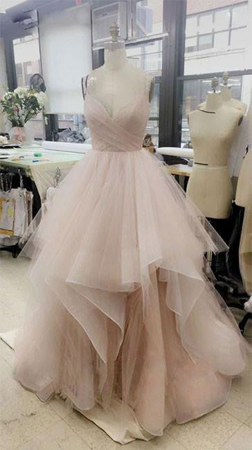 Champagne Prom Dress, White Prom Dress, Pink Prom Dress, Champagne ...