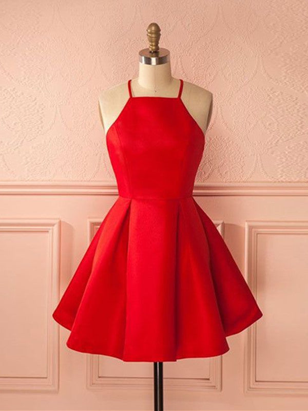 Simple Red Short Prom Dress, Short Red Homecoming Dress, Red Short ...