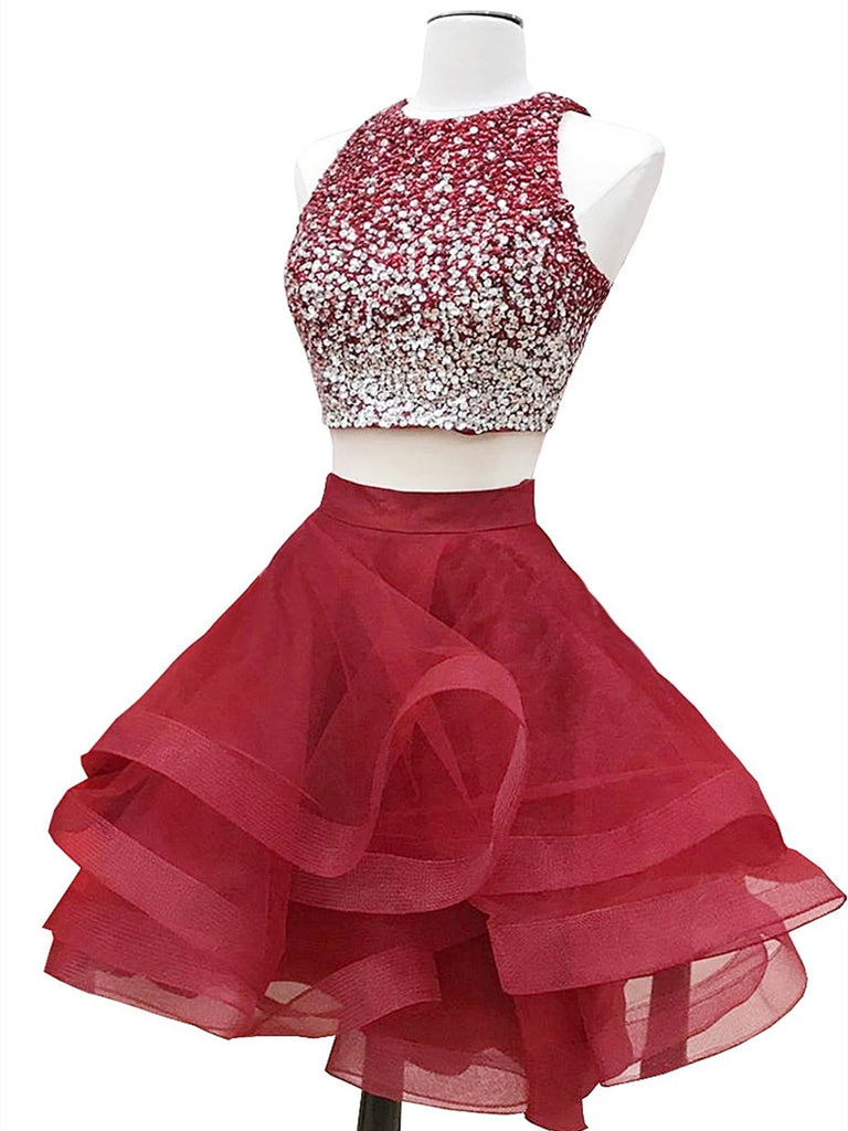two piece short two piece homecoming dresses