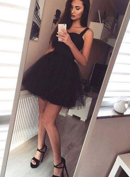 Simple A Line Sweetheart Neck Short Pink/Black Prom Dress with Straps,  Short Pink/Black Graduation Dress, Formal Dresses