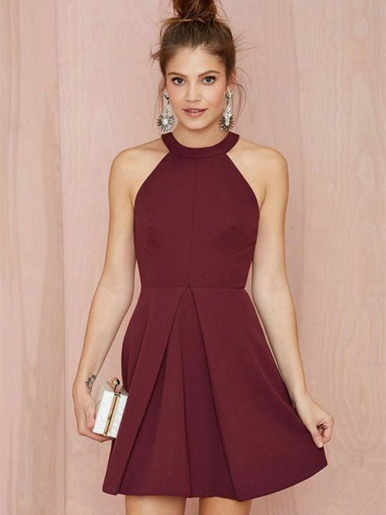 Short Formal Halter Dress
