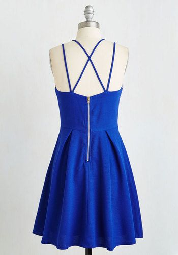A Line Royal Blue Short Prom Dress with Cross Back, Royal Blue Formal Dresses, Homecoming Dresses, Short Homecoming Dresses