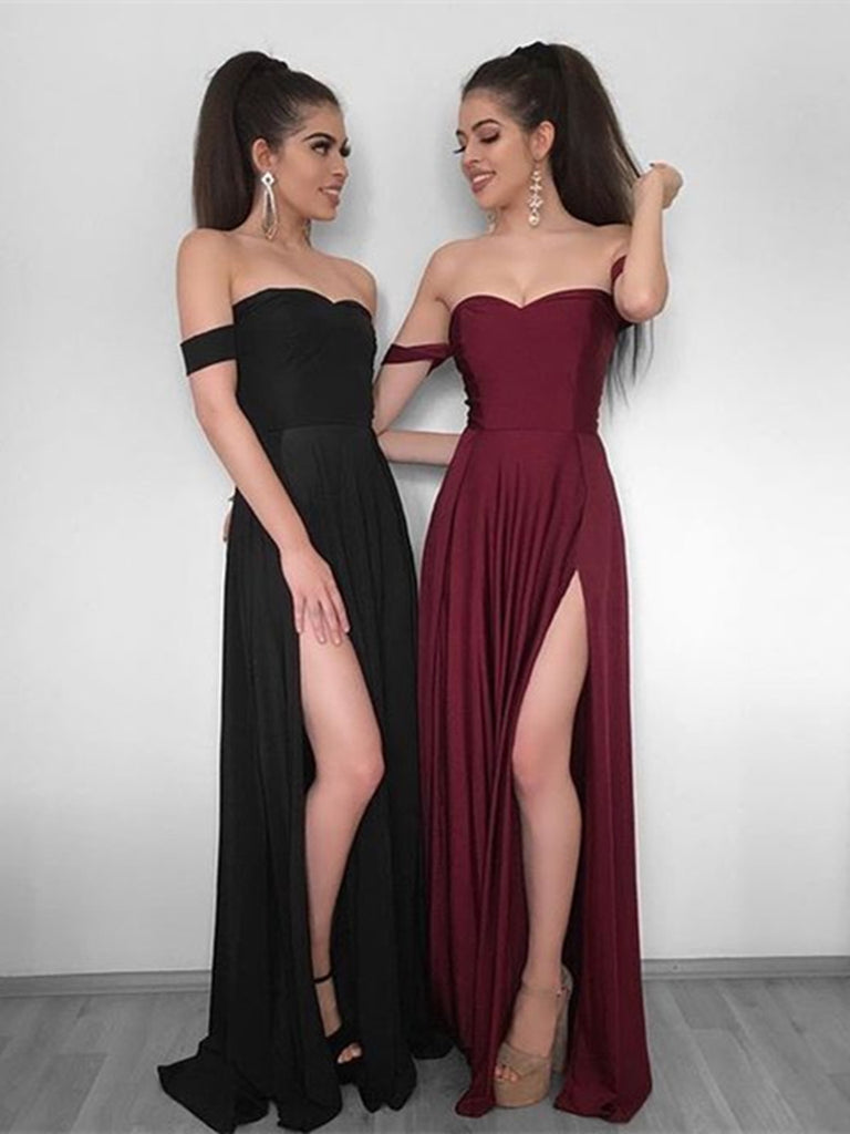 Red and Black Prom Bridesmaid Dresses