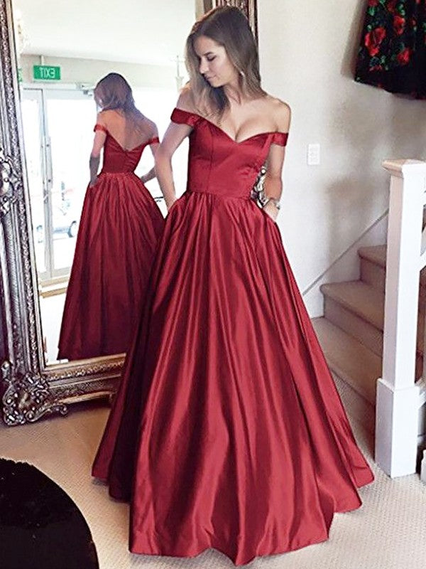 d87e06d8769 A Line Off Shoulder Burgundy Prom Dresses