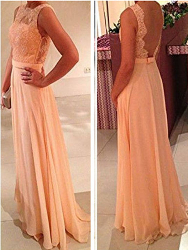 Custom Made A Line Long Lace Prom Dresses, Lace Bridesmaid Dresses, Long Lace Formal Dresses