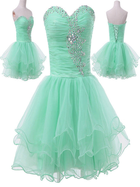 Custom Made Sweetheart Neck Short Prom Dresses, Short Homecoming Dresses, Short Formal Dresses