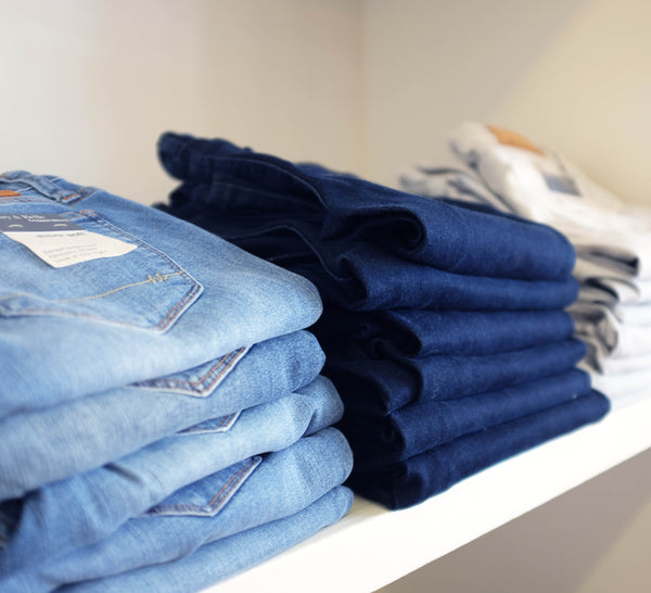 The meaning of blue - light jeans convey serenity and calm
