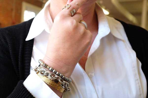 How to Wear Mixed Metals - Stack, stack, stack!