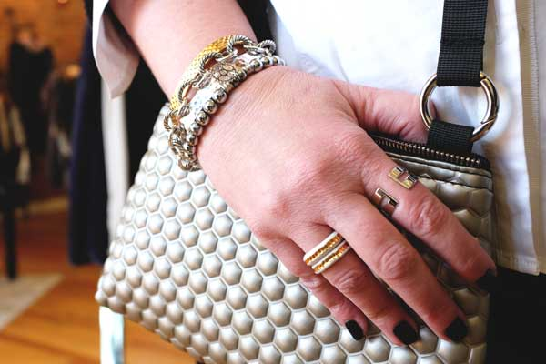 How to Wear Mixed Metals - Mix in metallic accessories