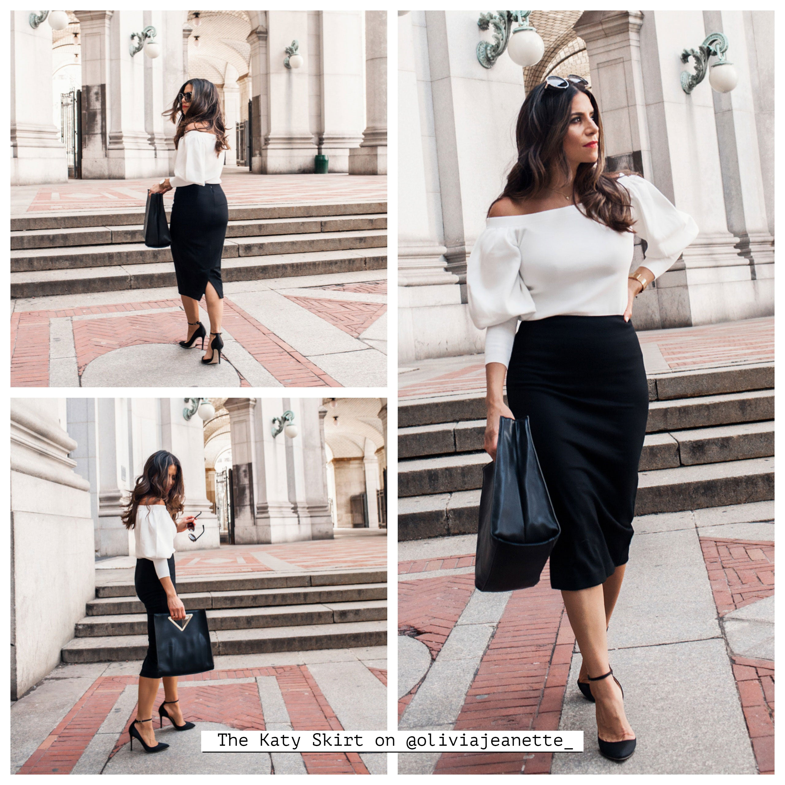 The Pencil Skirt on @oliviajeanette_
