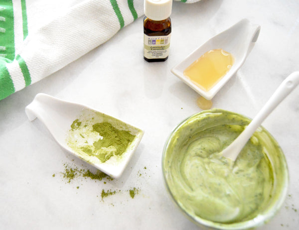 At home spa experience - Soothe your skin with a DIY matcha lavender face mask