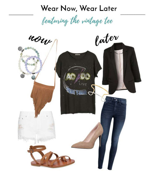 Wear now and wear later vintage concert tee fashion