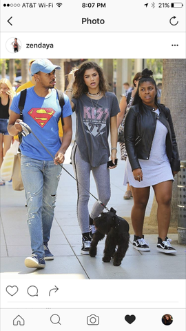 Zendaya in Junk food clothing Tees  - robin b. has these