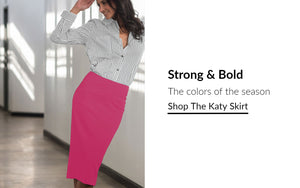 Pencil Skirt | Bold Colors at rose & thread