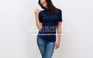 mock turtleneck at rose and thread