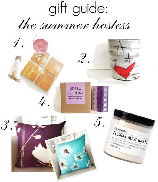 gift guide: unique hostess gifts for summer