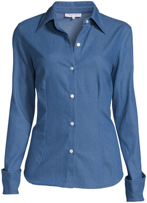 The Grace Blouse - Chambray