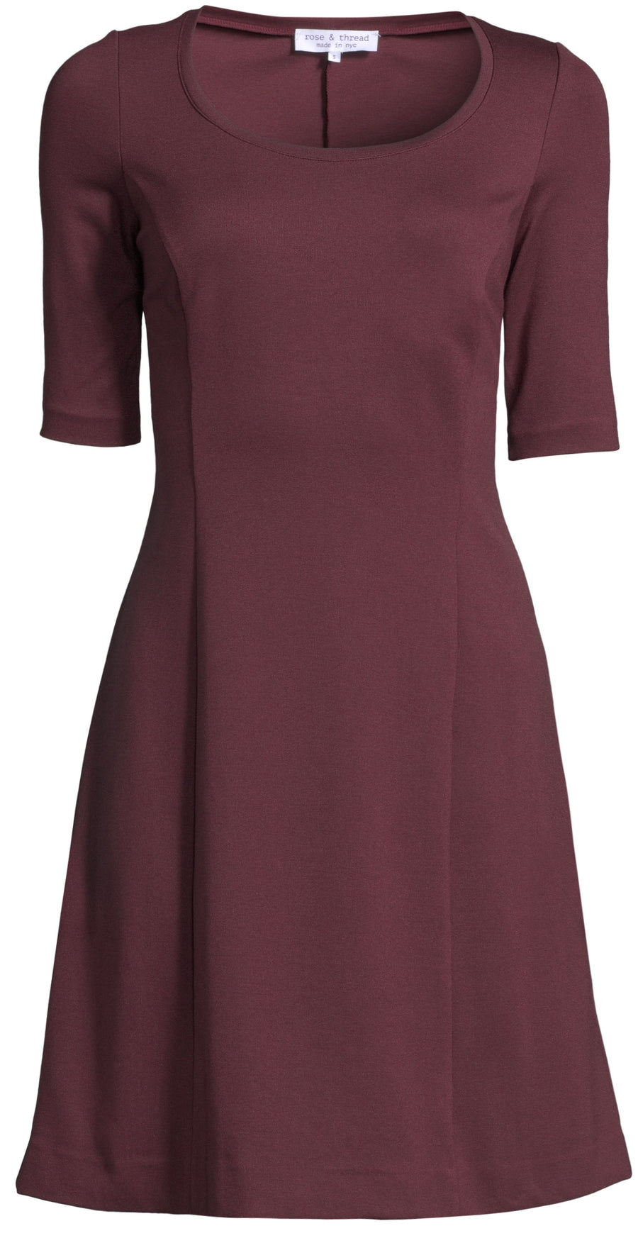 The Jackie Dress - Burgundy