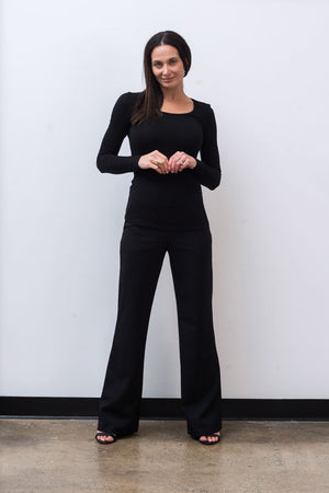 wide leg pant in black_rose and thread
